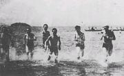 青春を駈ける水泳練習(昭和26年)